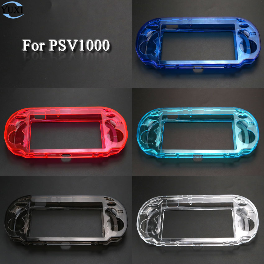 YuXi Clear Hard Case Transparent Protective Cover Shell Skin For Sony Psv1000 Psvita PS Vita PSV 1000 Crystal Body Protector
