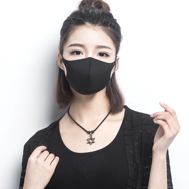 Breathable Face Protection Fashion 5 Masks Cool Mouth High Quality 2pcs So Black Anti-dust Pm2 Flu Allergy Mask Haze