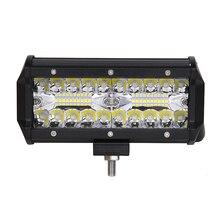 ECAHAYAKU 7 Inch Offroad 120W LED Worklight 3-Row Spot Flood Combo Auto Led Light Bar For ATV Lada Niva 4x4 Boat 12V 24V
