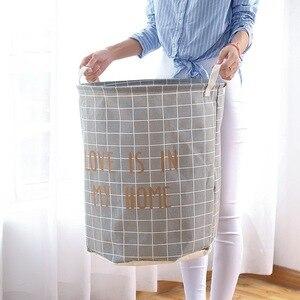 Image 2 - Cesta de lavanderia à prova dwaterproof água mais tamanho cestas de armazenamento com alça dobrável conveniente família caixa de armazenamento crianças brinquedos roupas