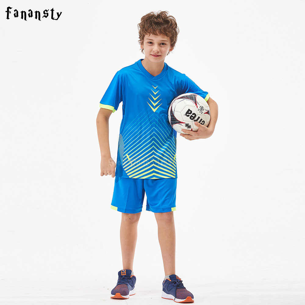 2ce321d0c High quality soccer jerseys kids customized sports training suits boys team child  football uniforms soccer sets