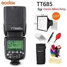 Godox TT685 Flash TTL Blitz speedlite High Speed 1/8000 s GN60 Blitzschuh für Canon Nikon Sony DSLR kostenloser versand + geschenke