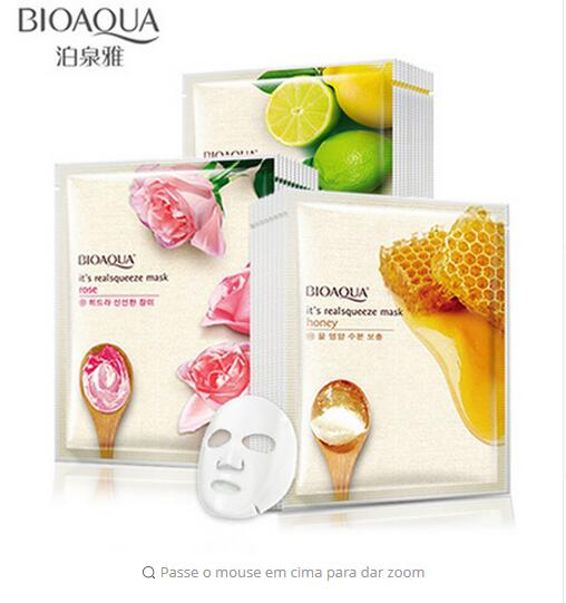 BIOAQUA Mask Honey Rose Lemon Facial Mask Shrink Pores Moisturizing Whitening Oil-control Face Mask Skin Care
