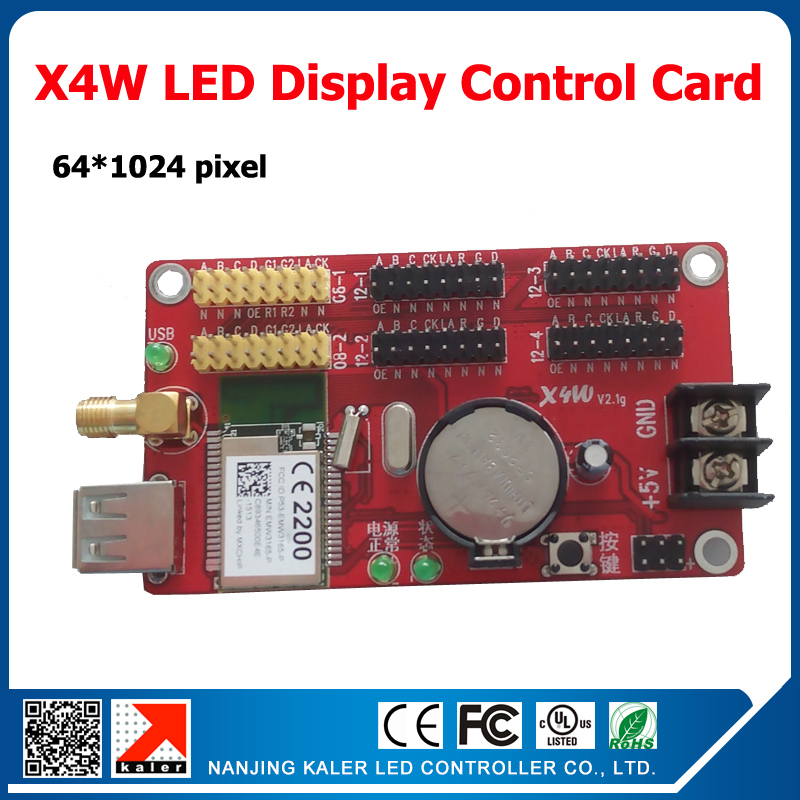 2015 New Product X4W Wifi Led Display Control Card Easy Operation Signle Dual And Full Color Led Control Card Usb And Wifi Input