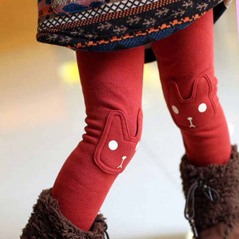 2018 Cute Rabbit Girls Child Pants Bottoms Kids Baby Toddler Fleece Leggings Trousers Hot Selling New