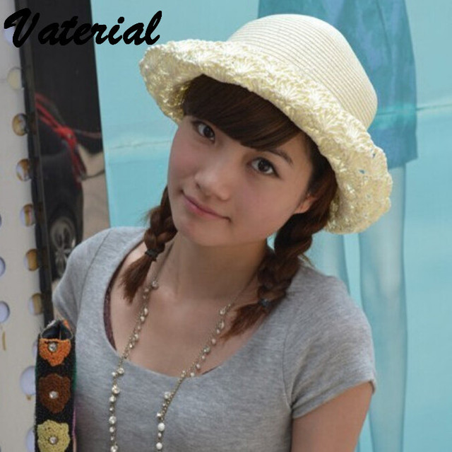 e308870cb53 Korean fashion british style small hollow straw hat ladies hats women  fashion hats 2016 sun hats for women with big heads VC0680