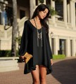 2016 spring and summer clothing lace deep v-neck long-sleeved chiffon dress code casual blouses