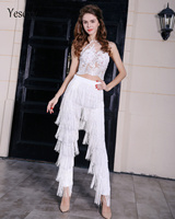 Yesexy 2019 Fashion high waist tassel zip pants VR4799