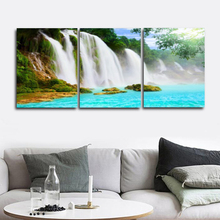 Laeacco 3 Panel Abstract Wall Artwork Natural Scenery Living Room Home Decoration Posters and Prints Canvas Painting