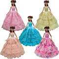 1pcs quality half lace Wedding Dress Princess Gown Dress Clothes Gown For Barbie doll dress for girl gift