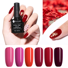 UR SUGAR 7.5ml Red Series Gel Nail Polish Pure Color  Soak Off UV Varnish LED Lacquer Art Manicure DIY