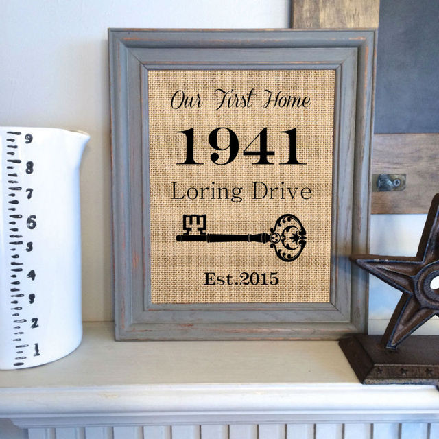 Personalised Home Is Where New Home Gift Print By: House Warming Gift,New Home Housewarming Gift,Our First