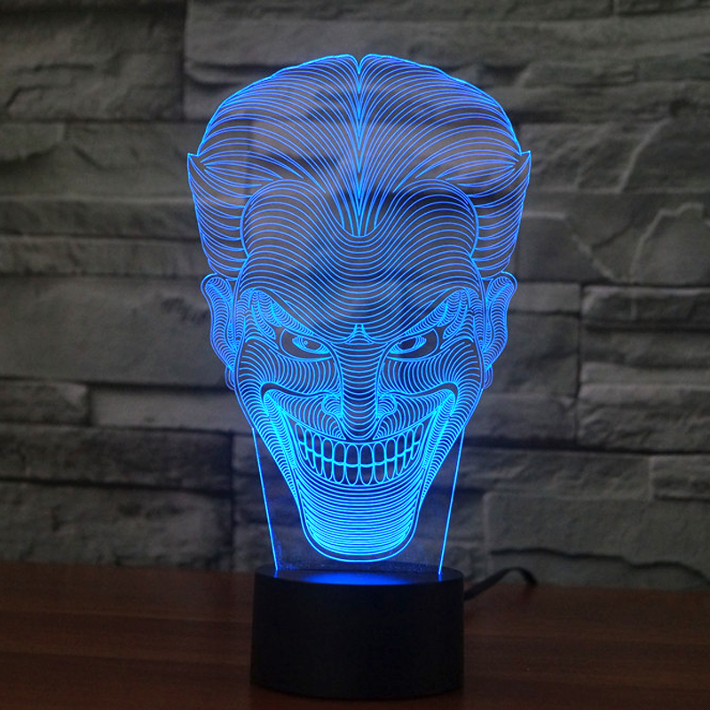 olorful USB Joker 3D Table Lamp Luminaria LED Night Light Remote Switch Decorative Lighting Atmosphere Lamp Holiday Gifts (6)