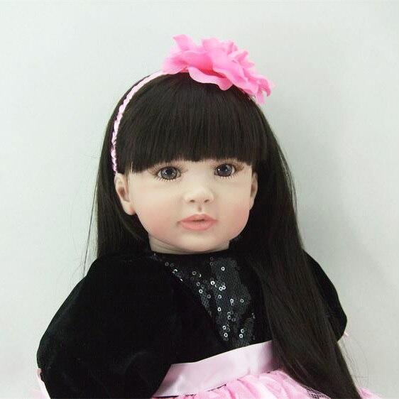 60cm Silicone Vinyl Reborn Girl Baby Doll Toys