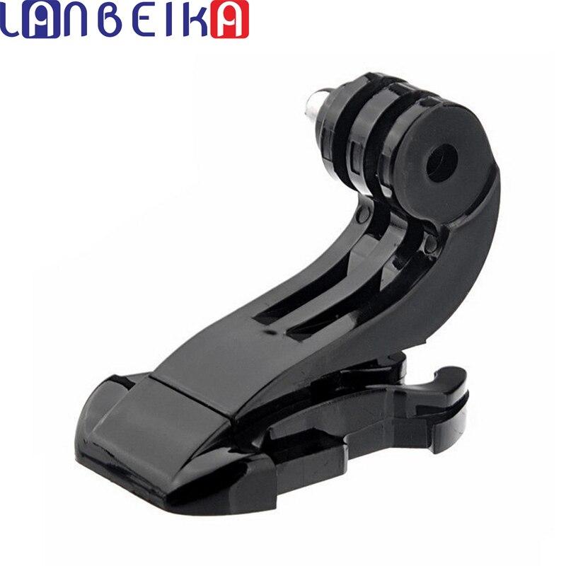 LANBEIKA 2pcs/lot Accessories Vertical Surface J-Hook Buckle Mount Support For Gopro Hero 8 7 6 5 4 SJCAM SJ4000 SJ6 SJ8 YI DJI