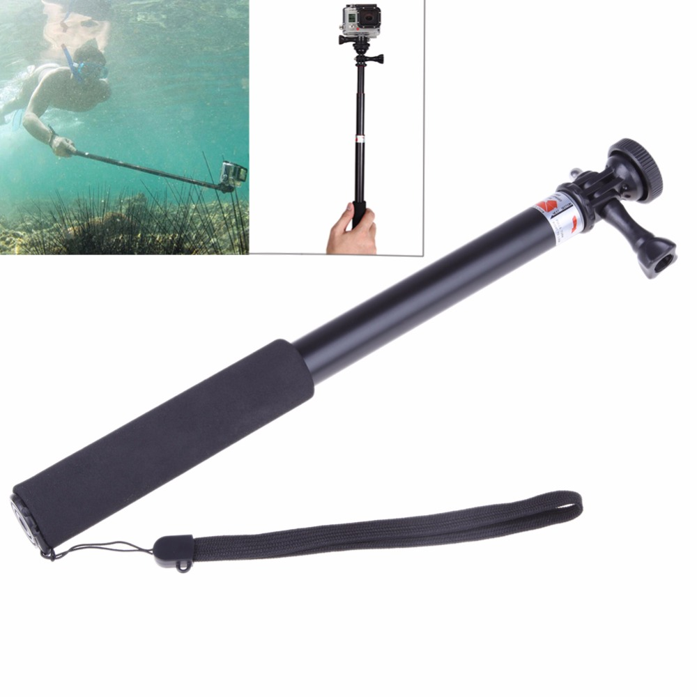 For Gopro Selfie Stick Telescoping Extendable Self Portrait Stick Cemera Handheld Monopod Wrist Strap for GoPro Hero 2 3 3+ 4 gopro accessories kit gopro selfie monopod chest belt head band wrist strap helmet strap moubt bag for gopro hero 3 3 plus 4
