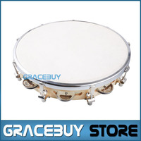 Capoeira Leather Pandeiro Drum Tambourine Samba Brasil Wood Music Instrument 10