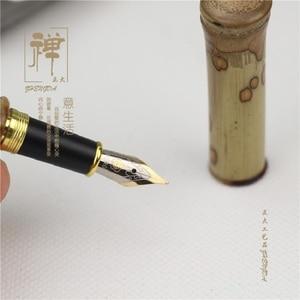 Image 3 - Farfalla naturale di bambù di alta qualità penna hero pen di bambù penna firma penna stilografica penna