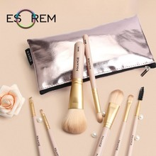 ESOREM 7 Pcs Makeup Brushes Set Professional Beauty With Bag Soft Synthetic Hair Tapered Highlight Pinceaux Maquillage 5781SB