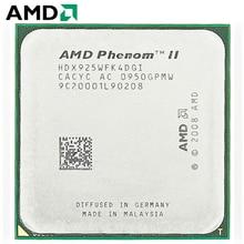 AMD Phenom II X4 925 HDX925WFK4DGI CPU Штепсель AM3 95 W 2,8 ГГц 938-pin Настольный четырехъядерный процессор CPU X4 925 socket am3