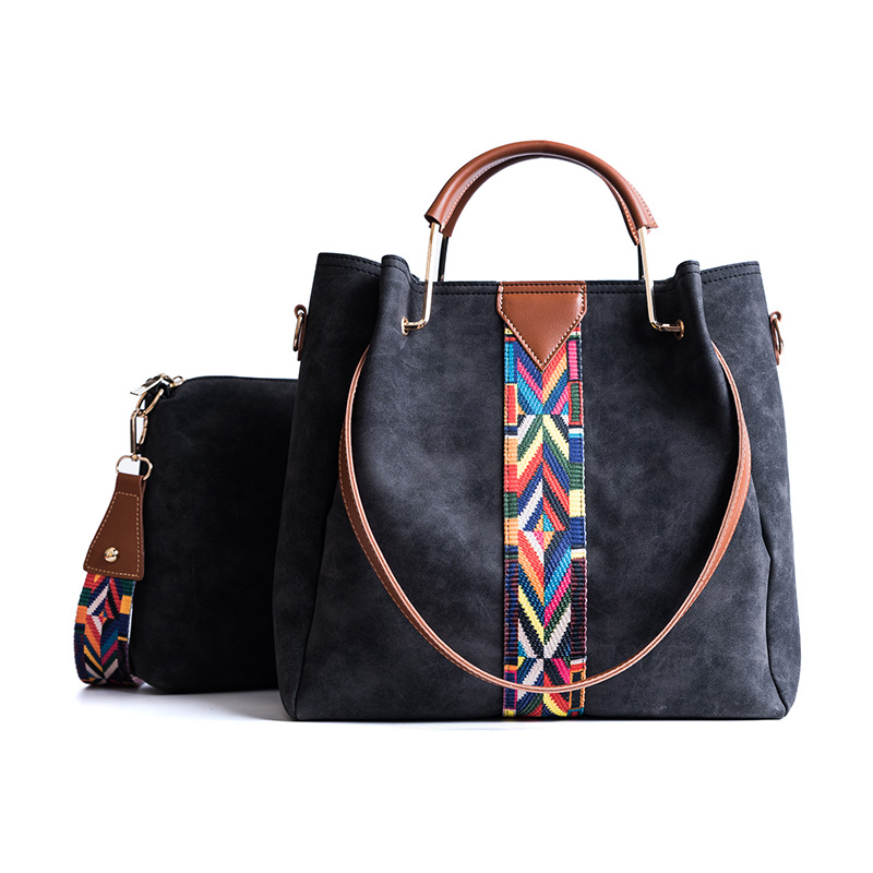 Rainbow Shoulder Strap High Capacity Two Pieces Sac A Main Bag Handbag Women Famous Brand Handbag Women Bag Bolsa Feminina