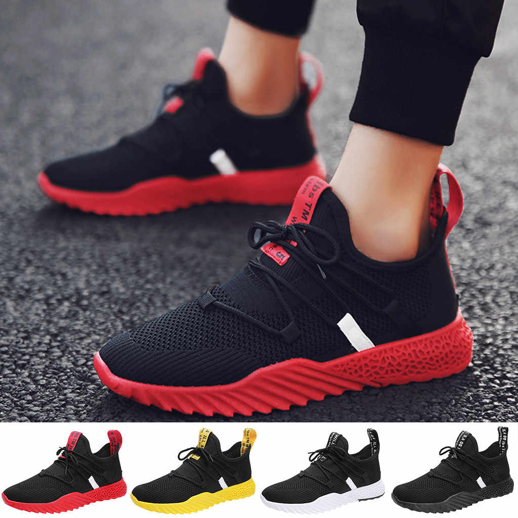 2019 erkek ayakkabısı spor ayakkabılar erkek Moda Rahat Nefes Örgü Yürüyüş koşu ayakkabıları Sneakers # G4