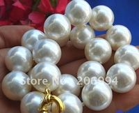 Lowest Rare Huge 20mm south sea White Shell Pearl Necklace pearl Jewelry fashion jewellery