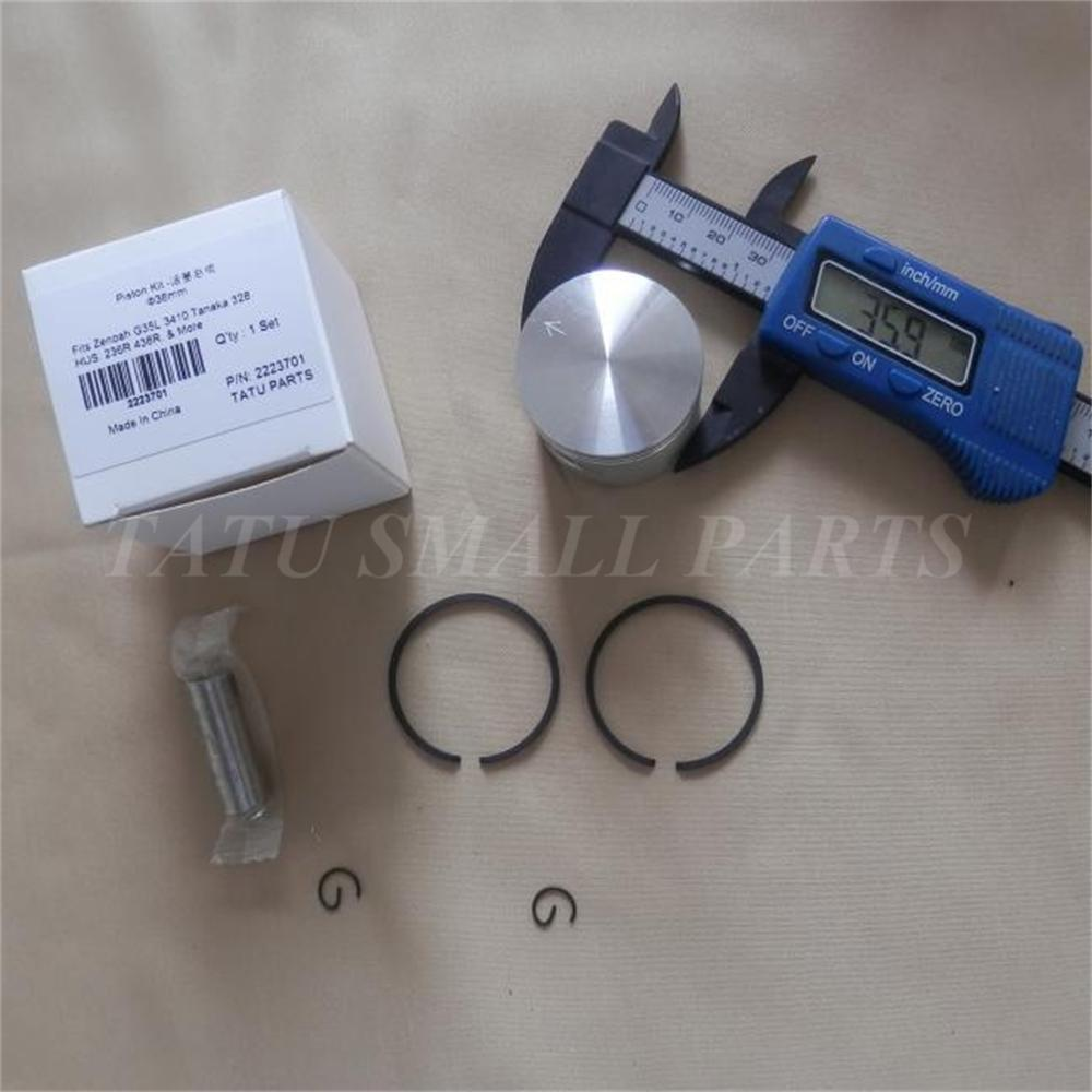 G35L PISTON KIT 36MM FOR ZENOAH G3K BC3410 BK3410 HUS. 436R 236R STRIMMER BRUSHCUTTER CYLINDER ASSEMBLY KOLBEN RING SET PIN CLIP changchai 4l68 engine parts the set of piston piston rings piston pins