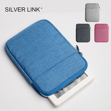 SILVER LINK 6 inch Kindle bag for kindle paperwhite 2 3 4 Voyage 7th 8th Pocketbook 615 622 623 Pouch Case Bag KC0035