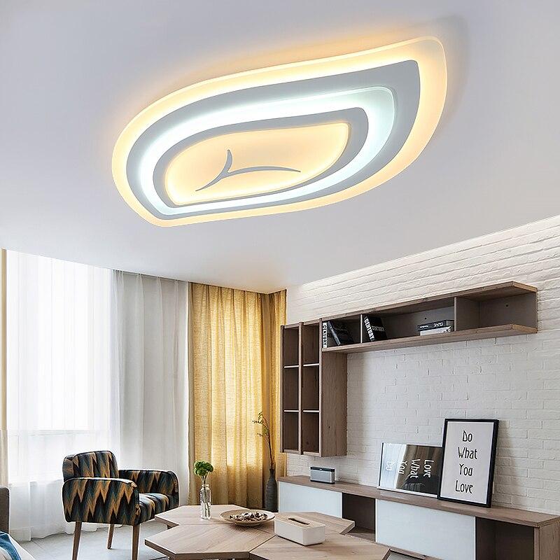 Dimmable moderna ha condotto le luci del soffitto per soggiorno camera da letto di telecomando ultra-sottile acrilico moderno ha condotto la lampada del soffitto di trasporto posta