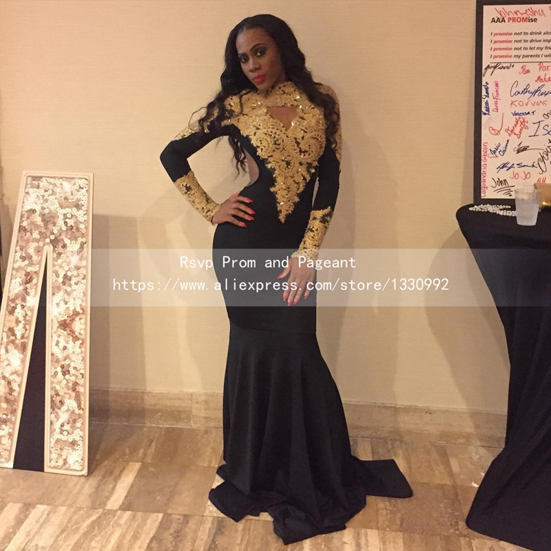 Popular Gold and Black Prom Dress-Buy Cheap Gold and Black Prom ...