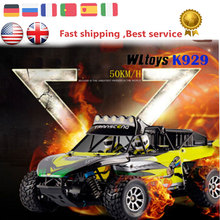 Wltoys RC Car K929 Electric 4WD Shaft Drive Rc Monster Truck 50KM/H High Speed Radio Control Off-Road Monster truck Buggy RTR