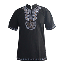 2019 Men camisas hombre African Embroidered Ukrainian Ethnic Awesome Traditional Mali Africana Hombre