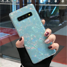 YHBBCASES Glitter Phone Cover For Samsung Galaxy S8 S9 S10 Plus Dream Shell Pattern Soft Silicone Cases Note 10 8 9