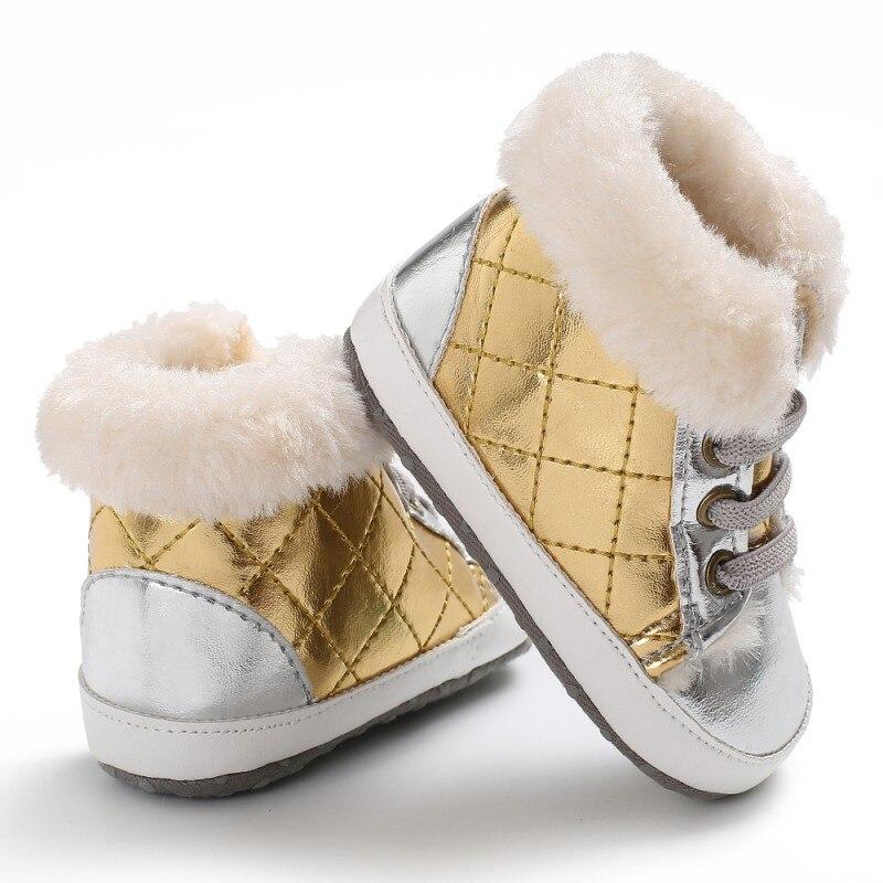 Зимние сапоги из искусственной кожи патч High-cut кроссовки обувь анти-слип Алмазный плед с бархат зима теплая обувь для маленьких мальчиков кр...