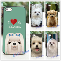 I Love My Maltese Dog Puppies Fashion Cover Case For Iphone 4 4S 5 5S 5C