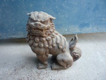 Lovely Old 18C  Ferrum Statue/ Sculpture-----lion,best collection&adornment,free shipping