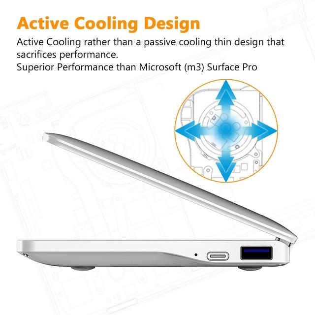 GPD Pocket2 Pocket 2 7 Inch Aluminum Shell Touch Screen Mini Laptop UMPC Windows 10 System CPU Core m3-8100Y 8GB/128GB Silver