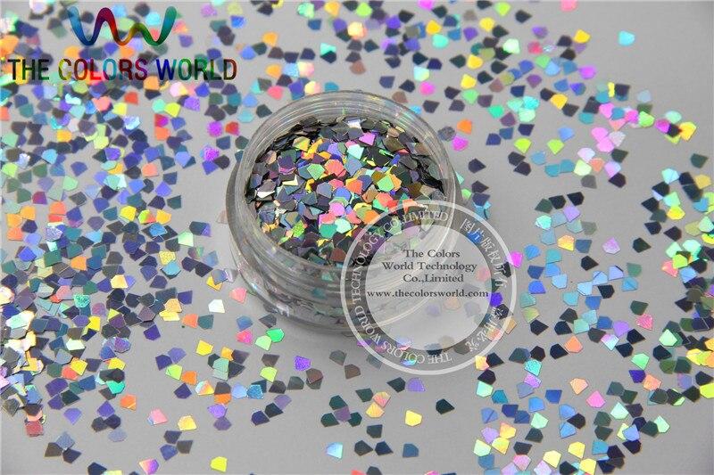 lj 0 formas de joias glitter tamanho 3 mm laser holografico prata cor diamante paillette para