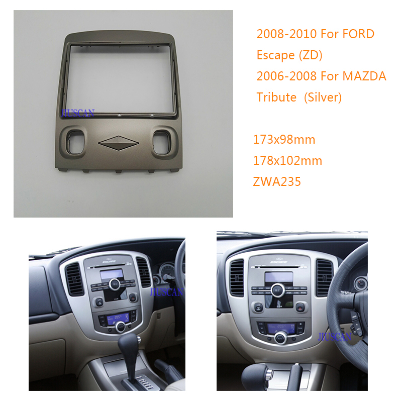 Jiu Car Stereo Radio Fascia Panel For Ford Escape Zd 2008 2010 Rhaliexpress: 06 Mazda Tribute Radio Replacement At Gmaili.net