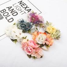 AHB Flower Crown Nylon Headband for Baby Girls Soft Floral Tiaras Elastic Head Band Photography Props Newborn Birthday Headwear