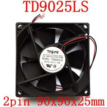 2 шт./лот TD9025LS 2PIN 12 В 0.16A 9 см 90*90*25 мм гидравлический тихий вентилятор охлаждения