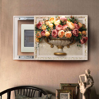 Meter Box Decorative Painting European Distribution Box Modern Living Room Landscape Flower Electric Switch Box Wall Decoration