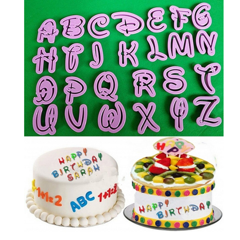 Reasonable 40pcs Alphanumeric Symbols Printed-mold Fondant Cake Decor Mold Tools Letters Printed Plastic Candy Mould Qb873218 Baking & Pastry Tools Kitchen,dining & Bar