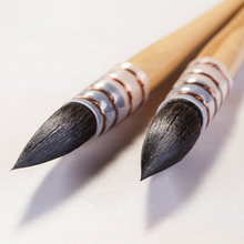 2 teil/los 20RQ #10 100% original eichhörnchen haar holzgriff aquarell stift malerei pinsel