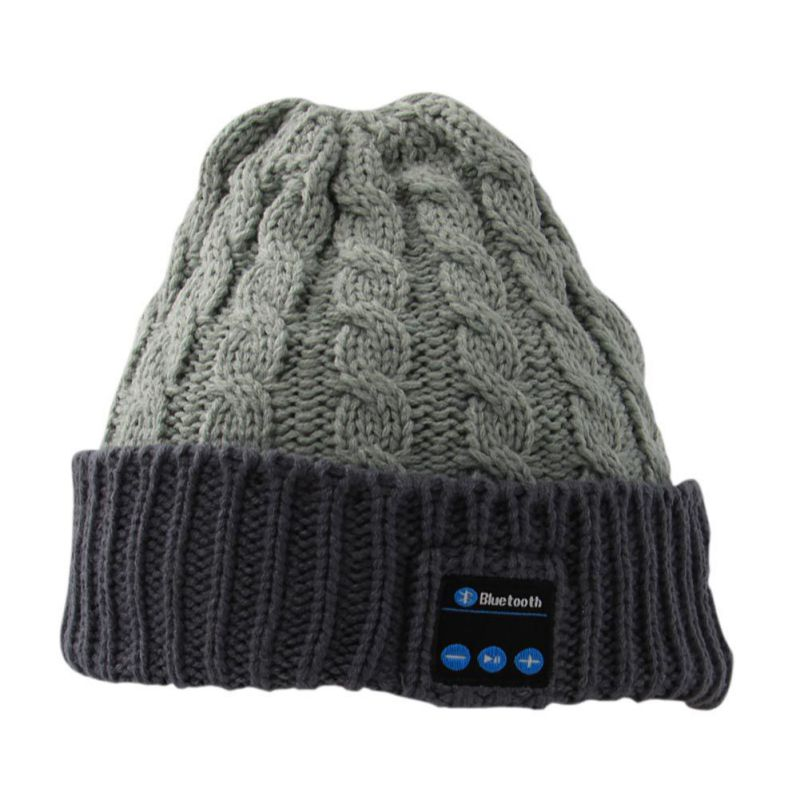 Portable Wireless Bluetooth Headphones Music Caps Warm Beanies Winter Hat with Speaker Mic for Smartphone new