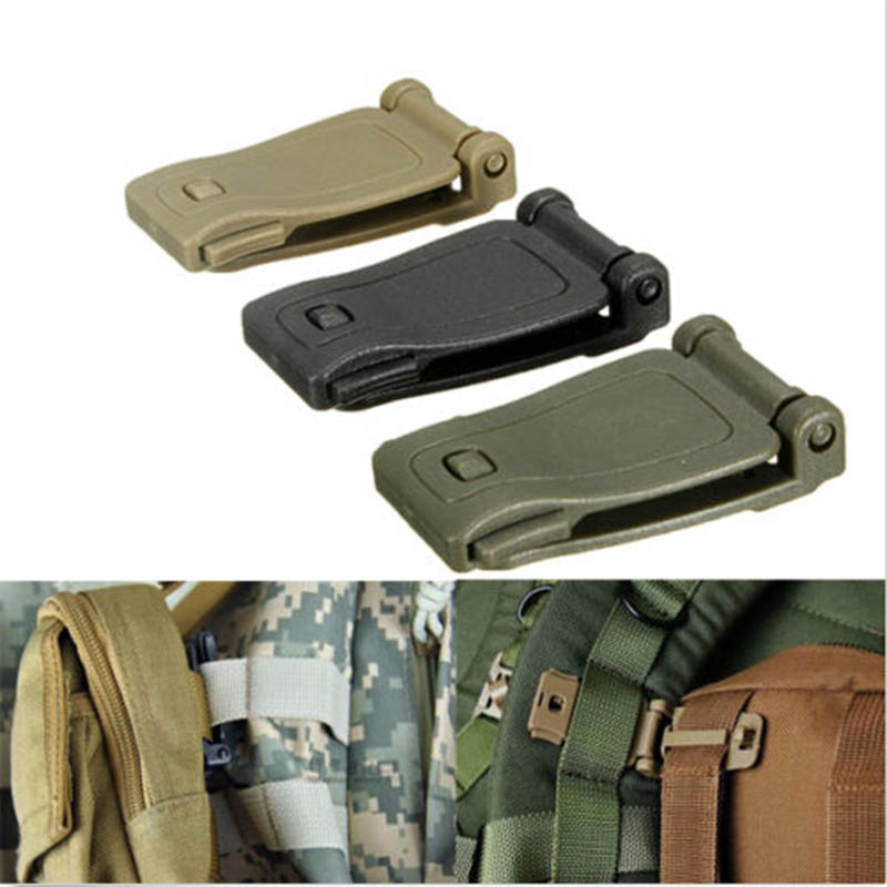 1Pcs Practical Outdoor Molle Strap Buckle Backpack Bag Webbing Connecting Buckle Clip 26mm EDC Tool Accessories Black/Khaki