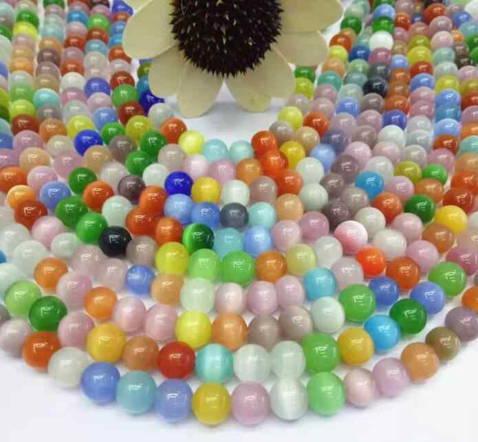 Katzenauge Stein Groß Perlen Großhandel Diy Sieben-farbe Katzenauge Stein und Schmuck Passenden Fabrik Direkt verkauf