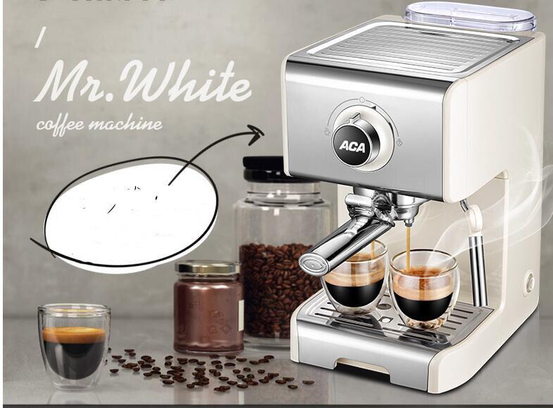1250 Вт ACA Паровая кофемашина Бытовая Коммерческая Эспрессо машина 20бар высокого давления насос кофеварка