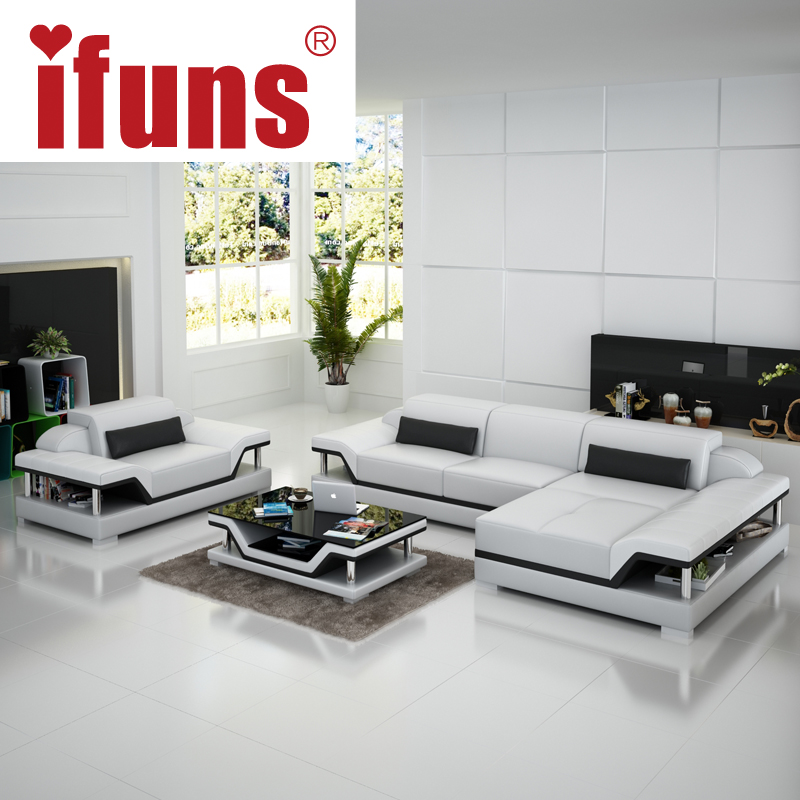 IFUNS salon furniture manufacturer,modern design living roomleather ...